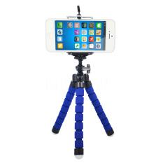 Fleksibel Dudukan Penahan Braket Dudukan Gurita Tripod Monopod Kamera Digital untuk Pergi Pro HERO 3 4 untuk IPhone 6 7 Huawei Telepon S7 S8 (biru)
