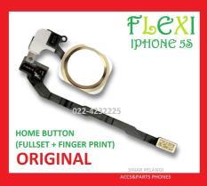 FLEXIBLE IPHONE 5S HOME BUTTON FULLSET + FINGER PRINT GOLD ORI 902191