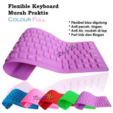 Flexible Keyboard Silicon Mini USB Super Murah Praktis