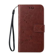 Flip Case untuk LG Optimus L70 L 70 65 LS620 D315 D325 D320 D329 D320N MS323 Butterfly Phone Kulit Cover untuk L65 Dual D285 D280 Kasus Telepon-Intl