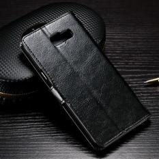 Flip Cover Kulit Samsung A3 A5 A7 2016 / A310 A510 A710 Case Hp Casing