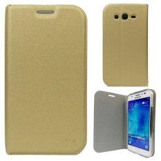 Flip Cover YA Series Samsung Galaxy Star 2 Plus G350E - Emas