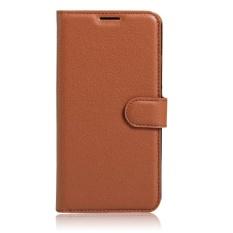 Flip Case Kulit Dibangun Di Slot Kartu untuk Acer Jade 2 Coklat-Internasional