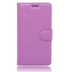 Flip Leather Case Dibangun Di Slot Kartu untuk Acer Jade 2 Ungu-Intl