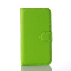 Flip Leather Case Dibangun Di Slot Kartu untuk Microsoft Lumia 550 Pink-Intl