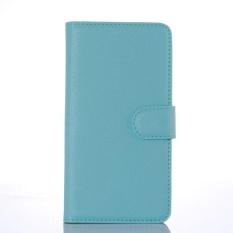 Flip Leather Case Dibangun Di Slot Kartu untuk Microsoft Lumia 650 Blue-Intl