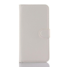 Flip Leather Case Built In Card Slot For ZTE Axon Lux White - intl