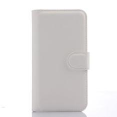 Flip Leather Case Dibangun Di Slot Kartu untuk ZTE Blade APEX 2 Putih-Intl