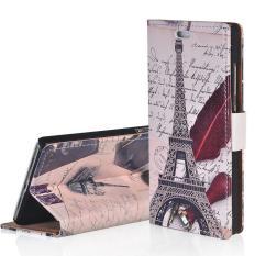 Flip Leather Case Cover untuk HTC 10 EVO Hijau Pohon Pola Folio Stand Dompet Case