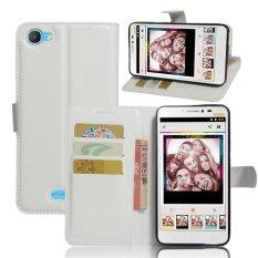 Flip Leather Wallet Cover Case untuk Alcatel Pixi 4 PLUS Power (Putih)-Intl