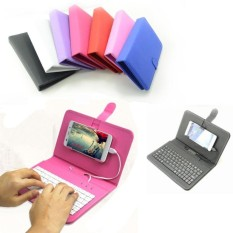 Flip Phone Case Dompet Kulit Cover Micro USB Keyboard untuk Android Mobile Phone & Nbsp;-Intl