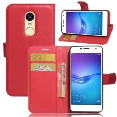 Flip PU Kulit Dompet Cover Case untuk Huawei Enjoy 6-Intl