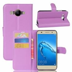 Flip PU Kulit Dompet Cover Case untuk Huawei Y3 2017-Intl