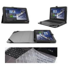 Flip Slim-Book ASUS Transformer Book T101HA Cover 2-Folding Leather Case + Keyboard Protector