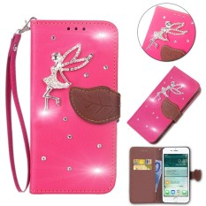 Flip Style Fashion Leaf Pattern Button bling Cover (PU leather and TPU) Stand Function Protection wallet phone case for Microsoft Lumia 640 XL