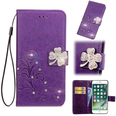 Flip Style Fashion Lucky Clover Pattern Cover (PU leather and TPU) Stand Function Protection wallet Bling phone case for Motorola Moto X Style 5.7