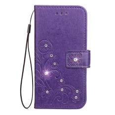 Flip Style Fashion Lucky Clover Pola (PU Kulit dan TPU) Stan Fungsi Pelindung Dompet Bling Phone Case untuk ZTE Grand X4 (5.5 Cm)-Internasional