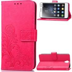 Flip Style Fashion Lucky Clover Pola (PU Kulit dan TPU) Stan Fungsi Pelindung Dompet Ponsel Case untuk Lenovo VIBE S1 Lite (5.0 Cm)-Internasional