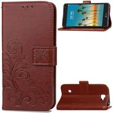 Flip Style Fashion Lucky Clover Pola (PU Kulit dan TPU) Stan Fungsi Pelindung Dompet Ponsel Case untuk LG K3 (2017) (4.5 Cm)-Internasional