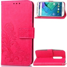 Flip Style Fashion Lucky Clover Pattern Cover (PU leather and TPU) Stand Function Protection wallet phone case for Motorola Moto X Style 5.7