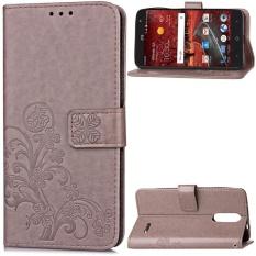 Flip Style Fashion Lucky Clover Pola (PU Kulit dan TPU) Stan Fungsi Pelindung Dompet Ponsel Case untuk ZTE Grand X4 (5.5 Cm)-Internasional
