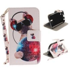 Flip Style Fashion Pola Dompet Cover (kulit PU dan TPU) Stan Fungsi Pelindung Phone Case untuk LG K3 (2017) (4.5 Cm)-Internasional