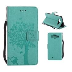 Flip Style Fashion Pola Pohon Tombol (PU Kulit dan TPU) Stan Fungsi Pelindung Dompet Ponsel Case untuk Microsoft Lumia 950 (5.2 Cm)-Internasional
