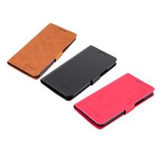 Jual dompet kulit untuk menutupi kasus PU mewah ZUK Z1 (berwarna merah muda) - International