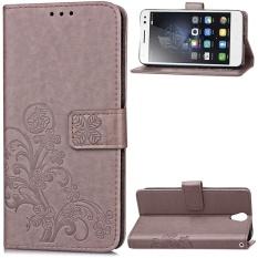 Flip Dompet Gaya Sederhana Lucky Clover Pola (PU Kulit dan Lembut TPU) Cover Stand Perlindungan Phone Case untuk Lenovo VIBE S1 Lite (5.0 Cm)-Internasional