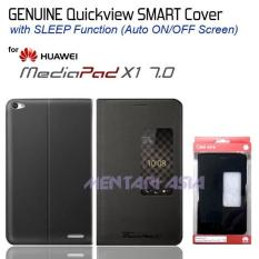 Flipcover For Huawei Mediapad X1 : Genuine Smart Quickview - Black - B9A9A7