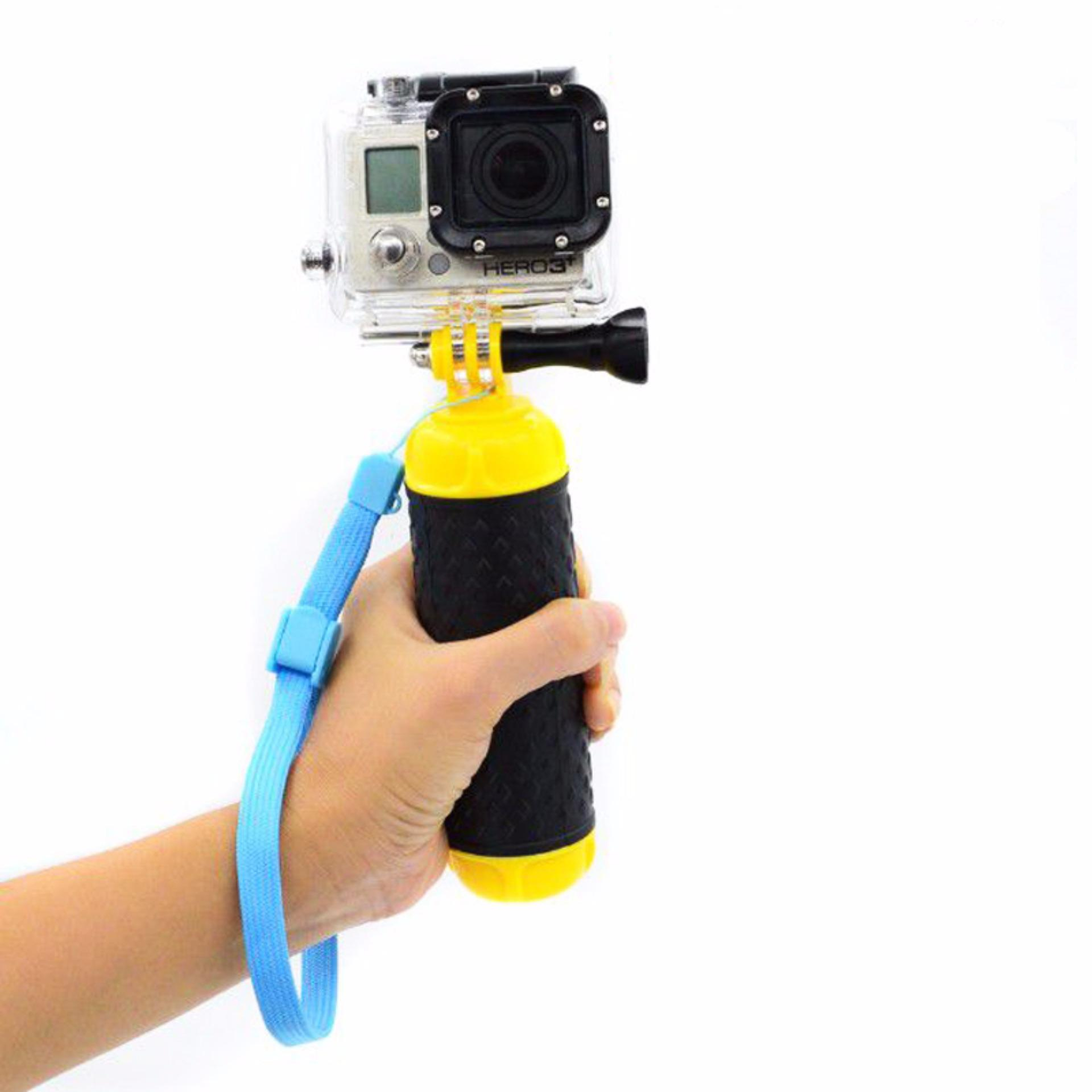 Float Tangan Grip Daya Apung Rod Pole Stick Monopod Tripod untuk Gopro5 SJCAM Pergi Pro 5 4 3 Action Sport Camera Aksesoris