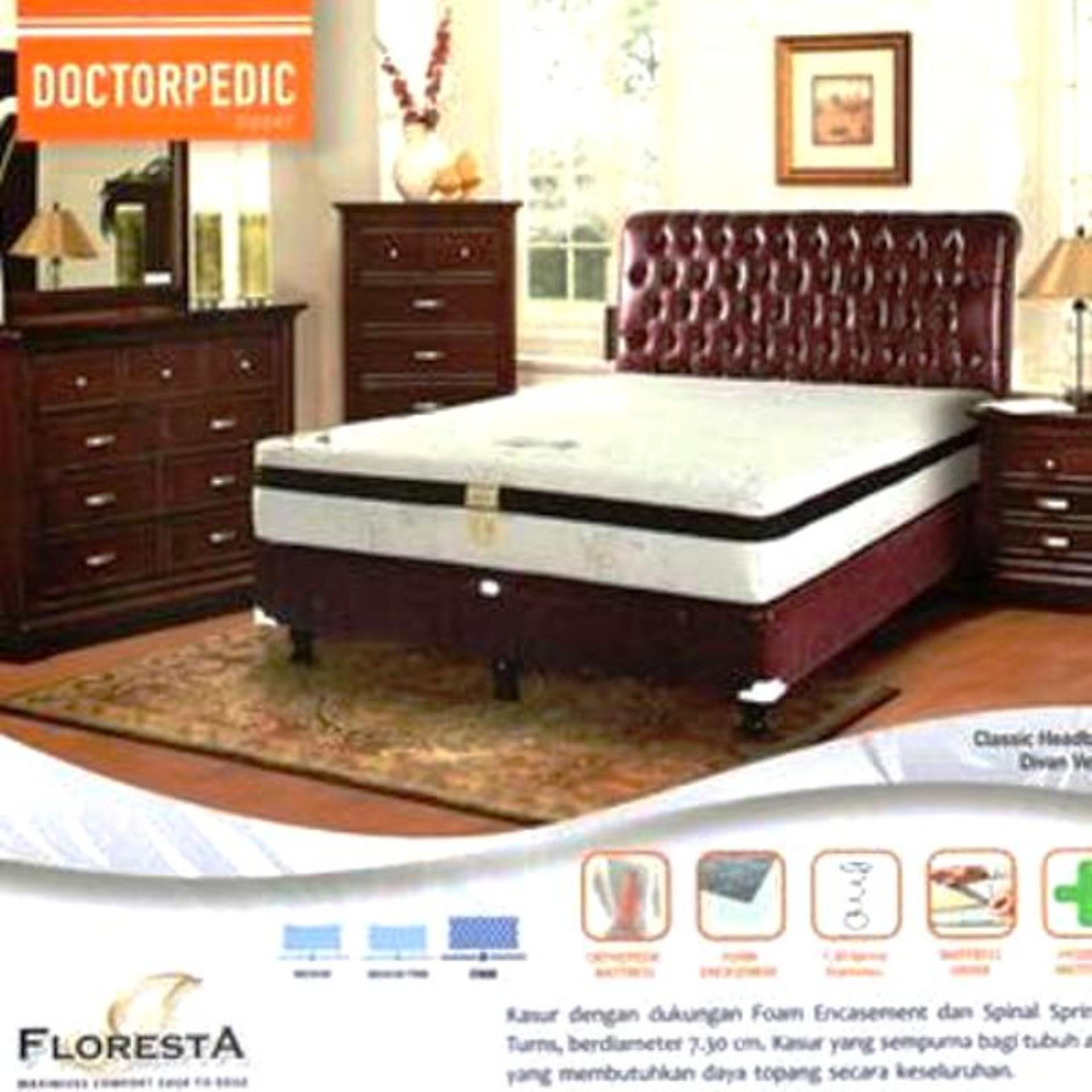Toko Floresta Springbed Doctorpedic Zipper Clasic Verona Full Set Termurah