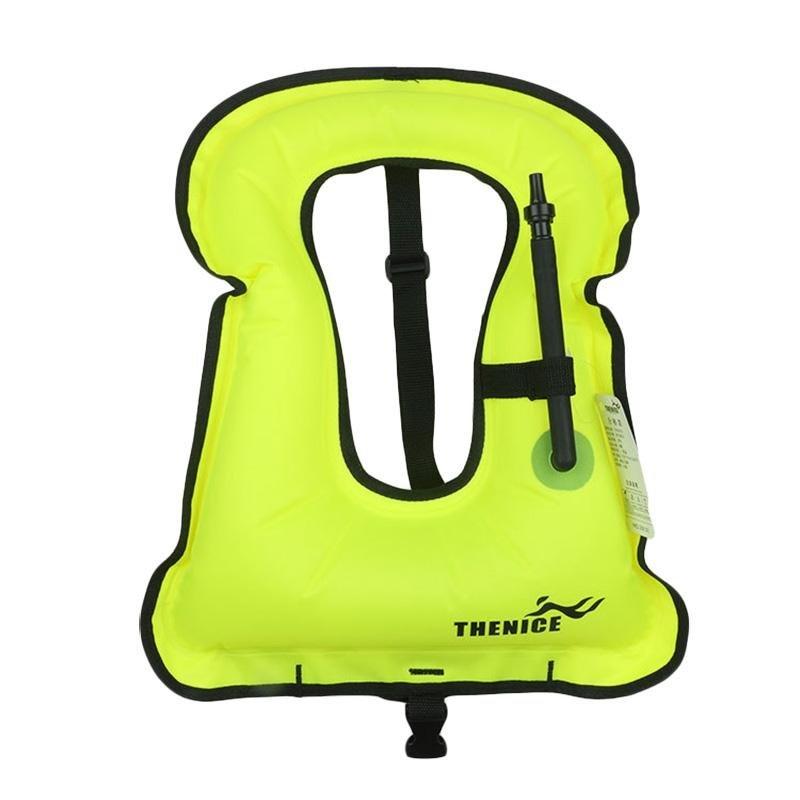 Spesifikasi Flotation Device Inflatable Life Jacket Portable Warna Cerah Snorkeling Rompi Warna Acak Intl Bagus