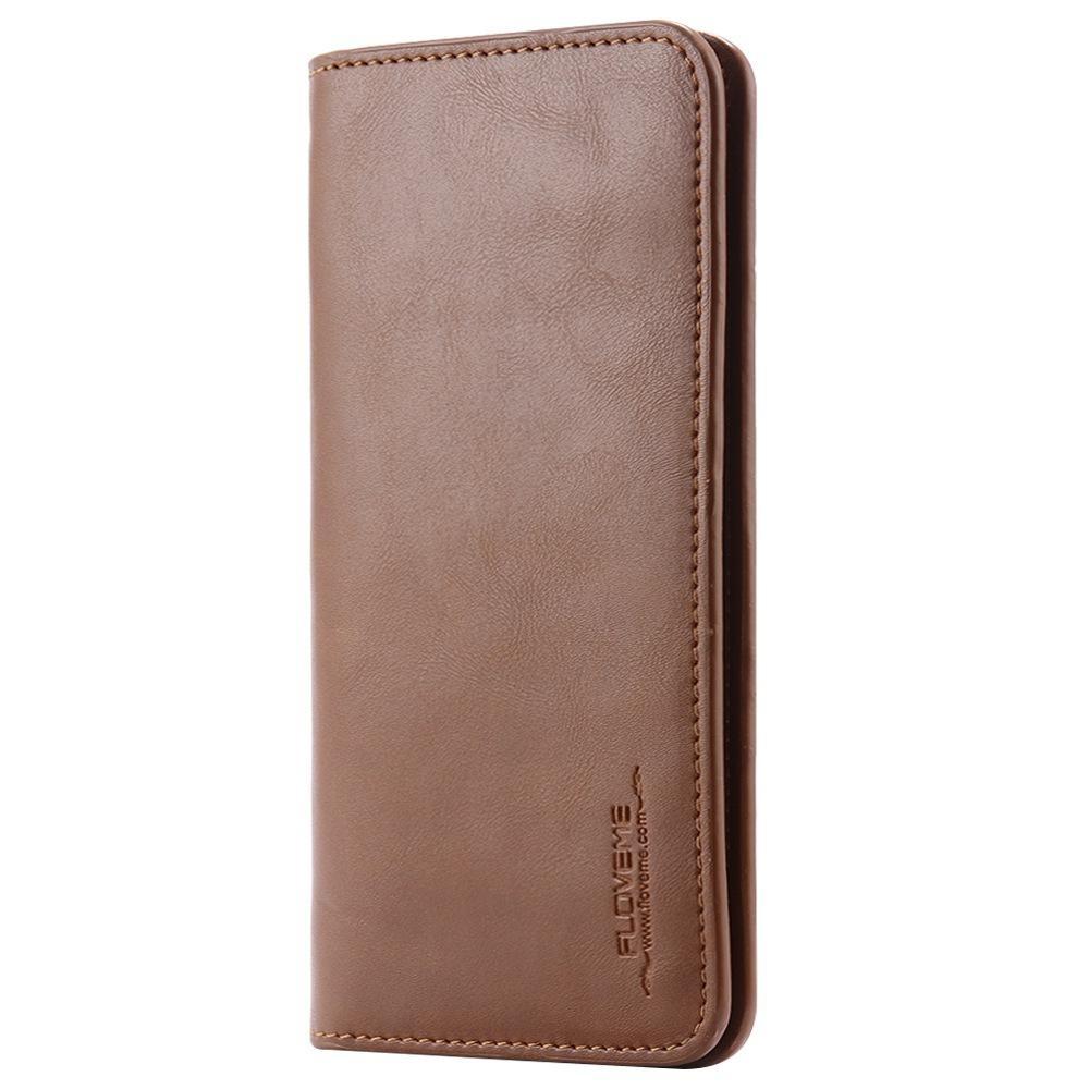 Floveme Asli Kulit Dompet Kantong Case untuk iPhone 8 PLUS Samsung Galaxy S6 S7 CATATAN 8 Kartu Penutup-Intl