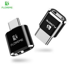 FLOVEME TYPE C OTG Micro USB/USB Female Ke Tipe-C Male Converter Adapter untuk Galaxy S8 OnePlus 3 T-Intl