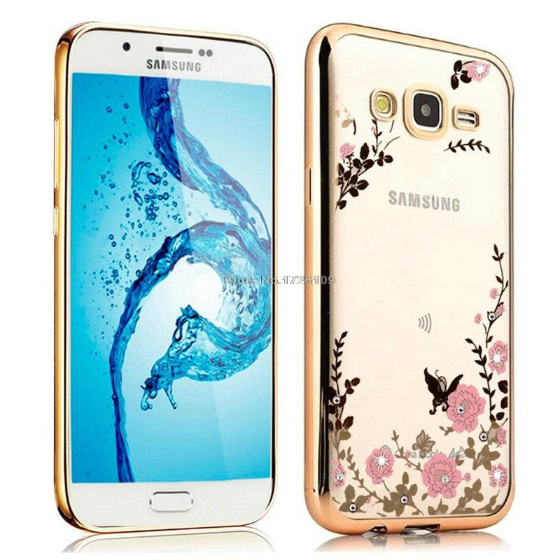 FLOWER CASE Samsung Galaxy J7 Core Softcase Silicone Bunga Casing Back Cover TPU Jelly Silikon Screet