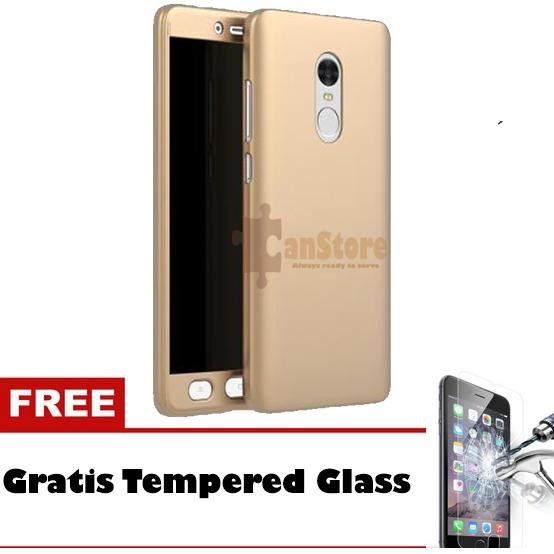 FlyStore - Hardcase 360 Xiaomi Redmi Note 4 Hitam Free Tempered Glass
