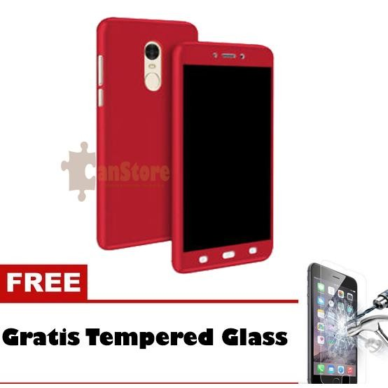 FlyStore - Hardcase 360 Xiaomi Redmi Note 4 Hitam Free Tempered Glass