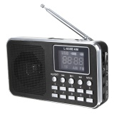 Diskon Fm Am Mini Radio Digital Lcd Speaker Mp3 Music Player Aux Usb Tf Dengan Led Cahaya Hitam Internasional Tiongkok