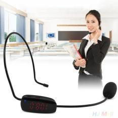 Beli Fm Wireless Headworn Microphone Headset Megaphone Radio Mic For Loudspeaker Intl Tiongkok