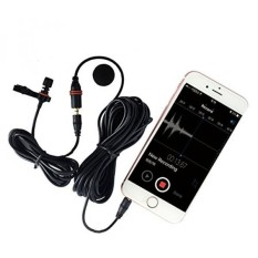 Fmuser Lavalier Mikrofon untuk Ponsel, 4.9ft Kabel Lapel Clip On MIC untuk Youtube, Ponsel Android, IPhone, IPad, IPod Touch, Tablet, Samsung Android Windows Smartphone-Intl