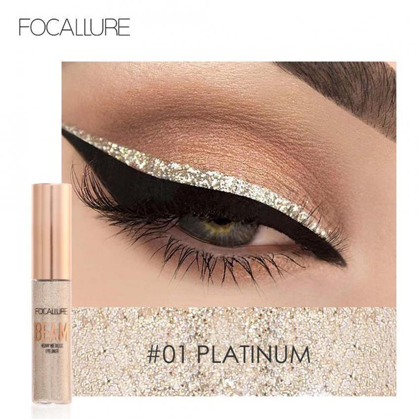 Jual Focallure 5 Warna Glitter Eyeliner Cair Berkilau Metallic Eyeliner Liquid Eye Makeup Cair Intl Murah Di Tiongkok