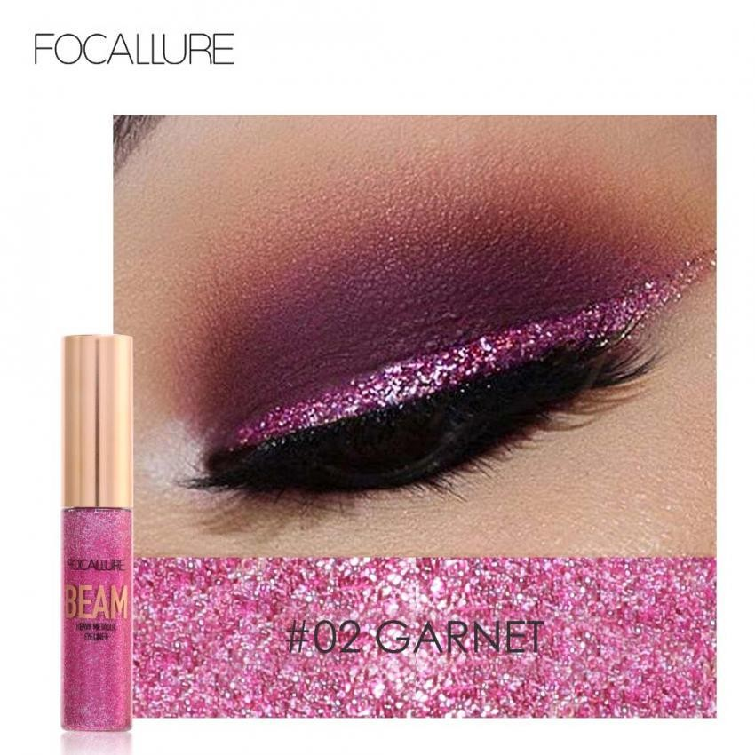 Focallure 5 Warna Glitter Eyeliner Cair Shining Metallic Eyeliner Liquid Eye Makeup Cair Intl Original