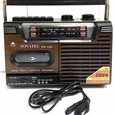 Harga Focus Sonatec Radio Cassette Recorder Tape Pr 329 Usb Sd Card Mp3 Original