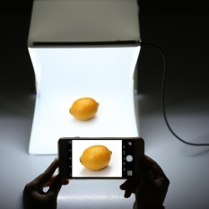 Lipat Lipat Portabel Mini Fotografi LED Lightbox Studio untuk Iphone Samsung LG HTC Smartphone Digital atau DSLR Kamera-Internasional