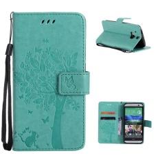 Folio PU Kulit Penutup Pemegang Kartu dengan Magnetic Penutupan Shell Pola Phone Case untuk HTC One (M8) /HTC One (M8) CDMA-Intl