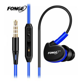 Fonge S500 Earphone Stereo Bass 3.5mm Wired Sport Headphone dengan MIC untuk iPhone Samsung Sony Xiaomi Oppo Phones MP3 MP4