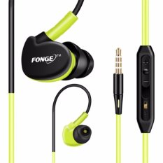 Fonge S500 Sport Earphone Anti Sweat Super Bass - Hijau