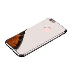 Foorvof Kobwa IPhone Case, Mirror Bright Reflection Ultra Tipis Hard Anti-Gores Tahan Guncangan Menyepuh Dgn Listrik Frame dengan Permukaan Permukaan Kasus Grip Yang Bagus untuk Apple IPhone-Intl