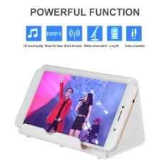 Foorvof Baru Induksi Flare Portable Wireless Speaker Mini Speaker dengan Portable Resonansi Suara Close-Deteksi Lapangan Speaker, Putih-Intl